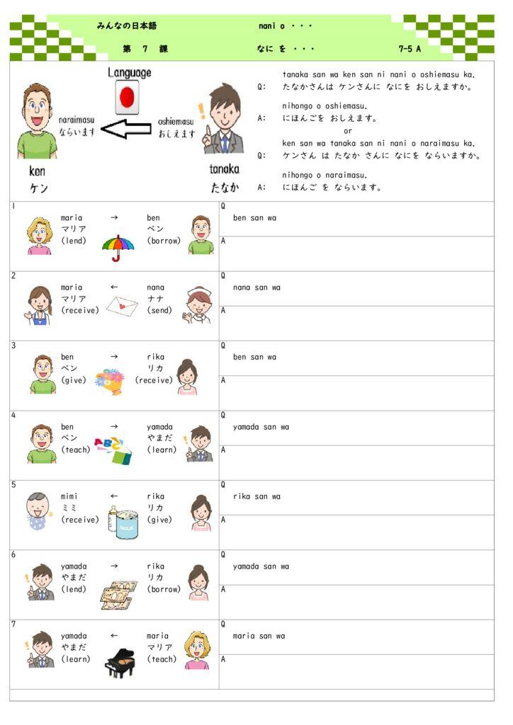 第7課 7-5(なにをあげます・もらいます)onlineのサムネイル